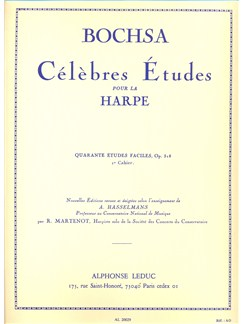 Nicolas-Charles Bochsa - Célèbres Études Pour La Harpe, 1<sup>er</Sup> Cahier Books | Harp, Study Guide
