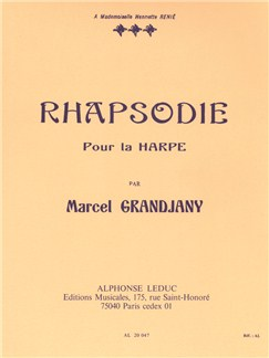 Marcel Grandjany: Rhapsodie For Harp Books | Harp