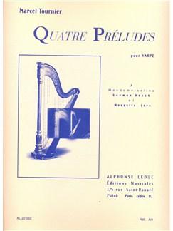 Marcel Tournier: Quatre Préludes (Harp) Books | Harp