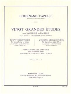 Ferdinand Capelle: Vingt Grandes Etudes For Saxophone Or Oboe Vol.1 Bog | Obo, Saxofon