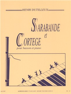 Henri Dutilleux: Sarabande Et Cortège For Basson And Piano Books | Bassoon, Piano Accompaniment