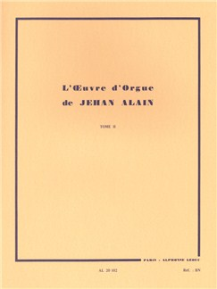 Jehan Alain: L'Oeuvre D'Orgue (Works For Organ) Vol.2 Books | Organ