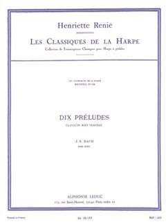 J.S. Bach: 10 Préludes (Harp) (Renié) Bog | Harpe