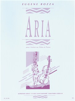 Eugène Bozza: Aria (Violin Or Flute/Piano) Books | Violin or Flute, Piano Accompaniment