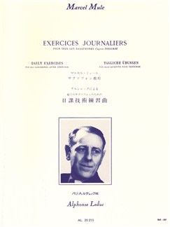 Marcel Mule: Exercices Journaliers D'Après Terschack Tous Saxophones Books | Saxophone