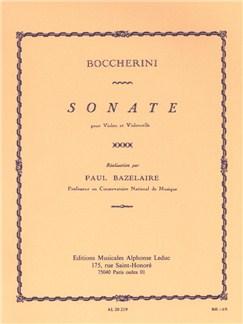 Luigi Boccherini: Sonata For Violin And Cello (Bazelaire) Books | Violin, Cello