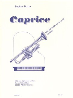 Eugène Bozza: Caprice No.1 Op.47 (Trumpet/Piano) Books | Trumpet, Piano Accompaniment