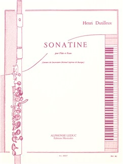 Henri Dutilleux: Sonatine For Flute And Piano Books | Flute, Piano Accompaniment