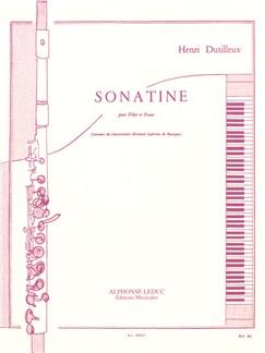 Henri Dutilleux : Sonatine Pour Flûte Traversière Et Piano Livre | Flûte Traversière/Accompagnement Piano
