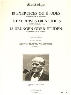 Marcel Moyse: 18 Exercices Ou Etudes De Berbiguier (Flute) Books | Flute