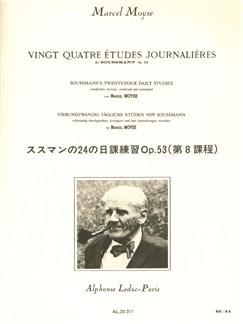 Marcel Moyse: 24 Etudes Journalières De Soussman Op.53 (Flute) Bog | Fløjte