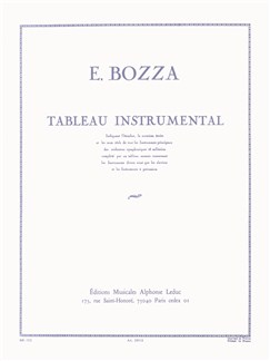 Eugène Bozza: Tableau Instrumental Books | All Instruments