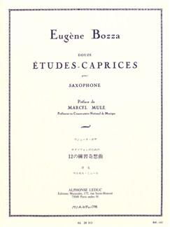 Eugene Bozza: 12 Etudes-Caprices Books | Saxophone