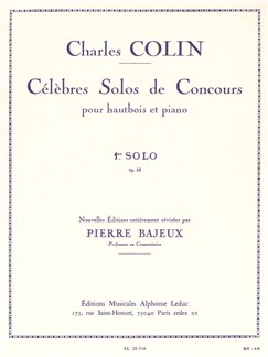 Colin Charles: Solo De Concours No.1 Op.33 (Oboe/Piano) Books | Oboe, Piano Accompaniment
