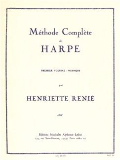 Henriette Renié: Méthode Complète De Harpe Vol.1 - Technique Books |