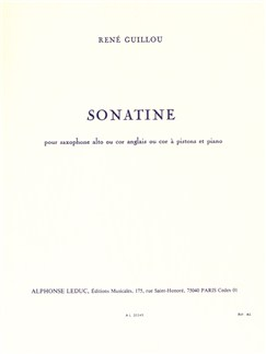 René Guillou: Sonatine For Alto Saxophone And Piano Books | Alto Saxophone, Piano Accompaniment