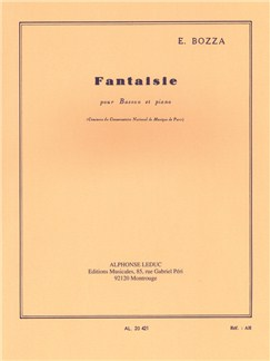 Eugène Bozza: Fantaisie For Bassoon And Piano Books | Bassoon, Piano Accompaniment