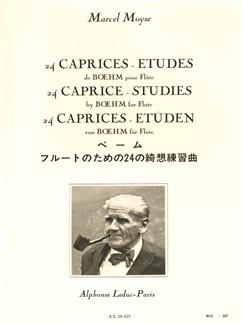 24 Caprices études de Boehm pour flûte Livre | Flûte Traversière