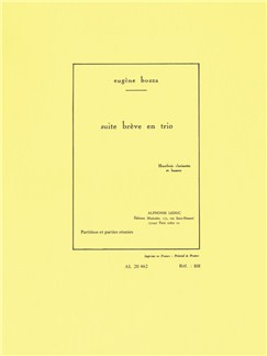 Eugène Bozza: Suite Brève En Trio Op.67 (Oboe/Clarinet/Bassoon) (Score/Parts) Books | Oboe, Clarinet, Bassoon