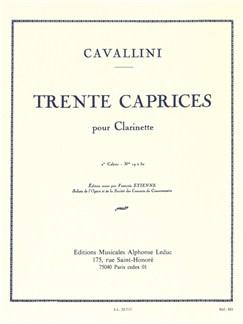 Ernesto Cavallini: 30 Caprices For Clarinet Vol.2 Books | Clarinet