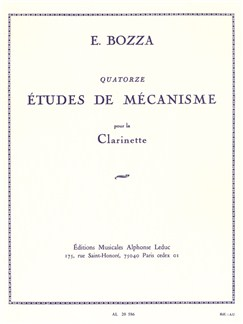 Eugène Bozza: 14 Mechanical Studies for Clarinet Books | Clarinet