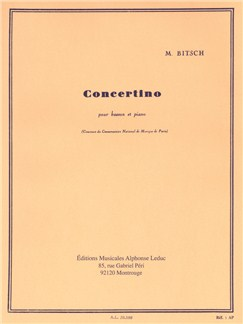 Marcel Bitsch: Concertino For Bassoon And Piano Books | Bassoon, Piano Accompaniment
