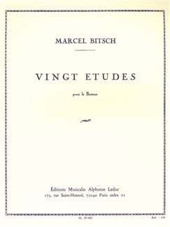 Marcel Bitsch: Vingt Études (Bassoon) Books | Bassoon