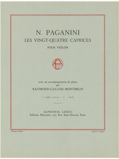 Niccolò Paganini: 24 Caprices Op.1, Vol.2 (Violon & Piano) Livre | Violon