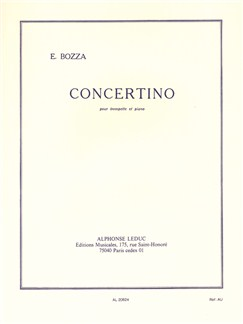 Eugène Bozza: Concertino For Trumpet And Piano Books | Trumpet, Piano Accompaniment