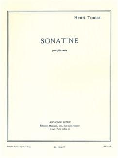 Henri Tomasi: Sonatine For Solo Flute Books | Flute