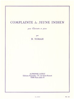 Henri Tomasi: Complainte Du Jeune Indien (Clarinet/Piano) Books | Clarinet, Piano Accompaniment
