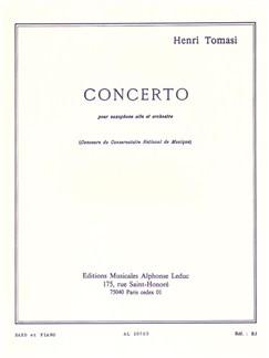 Tomasi: Concerto(Saxophone Orchestre) Saxophone Et Piano Books |