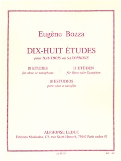 Eugène Bozza: 18 Études For Oboe Or Saxophone Books | Oboe, Saxophone