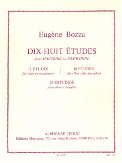 Eugène Bozza: 18 Études For Oboe Or Saxophone Libro | Oboe, Saxofón