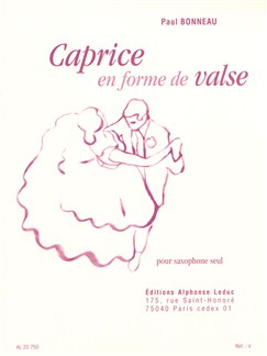 Paul Bonneau: Caprice En Forme De Valse For Saxophone Books | Saxophone