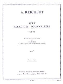 Matthieu André Reichert: Sept Exercices Journaliers Op.5 (Flute) (Caratgé) Books | Flute