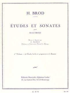 Henri Brod: Études Et Sonates Pour Hautbois Vol.1 Libro | Oboe