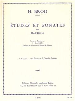 Henri Brod: Études Et Sonates Pour Hautbois Vol.2 Books | Oboe