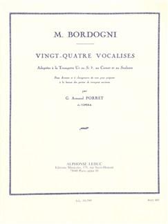 Giulio Marco Bordogni: 24 Vocalises (Trompette Seule) Livre | Trompette, Cornet