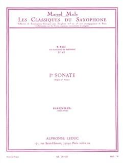 George Frideric Handel: Flute Sonata No.1 (Alto Saxophone/Piano) (Mule) Books | Alto Saxophone, Piano Accompaniment