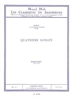 George Frideric Handel: Flute Sonata No.4 (Alto Saxophone/Piano) (Mule) Books | Alto Saxophone