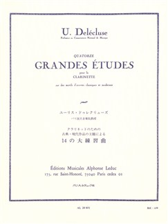 Ulysse Delécluse: Fourteen Great Studies (Clarinette) Livre | Clarinette