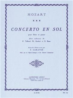 Concerto en sol pour flûte et Piano Livre | Flûte Traversière, Piano, Partitions