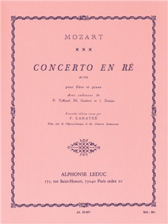 W.A. Mozart: Concerto No.2 In D K314 (Flute/Piano) Books | Flute, Piano Accompaniment