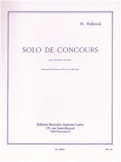 Rabaud: Seule de concours op10 Clarinette et Piano Livre | Clarinette, Accompagnement Piano