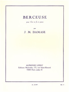 Jean-Michel Damase: Berceuse (Horn/Piano) Books | French Horn, Piano Accompaniment