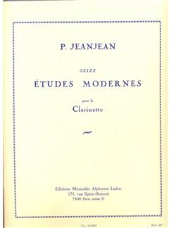 Paul Jeanjean: 16 Études Modernes (Clarinet) Books | Clarinet