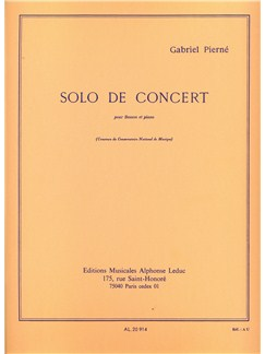 Gabriel Pierné: Solo De Concert (Bassoon/Piano) Books | Bassoon, Piano Accompaniment