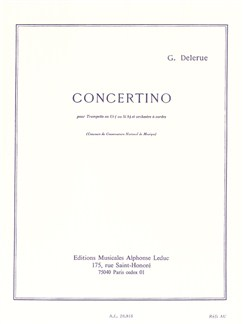 Georges Delerue: Concertino For Trumpet And String Orchestra (Trumpet/Piano) Books | Trumpet, Piano Accompaniment