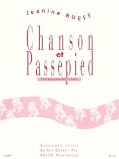 Jeanine Rueff: Chanson Et Passepied (Alto Saxophone/Piano) Books | Alto Saxophone, Piano Accompaniment
